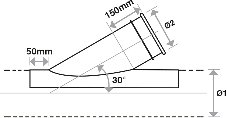 Cut-in Branch technical drawing