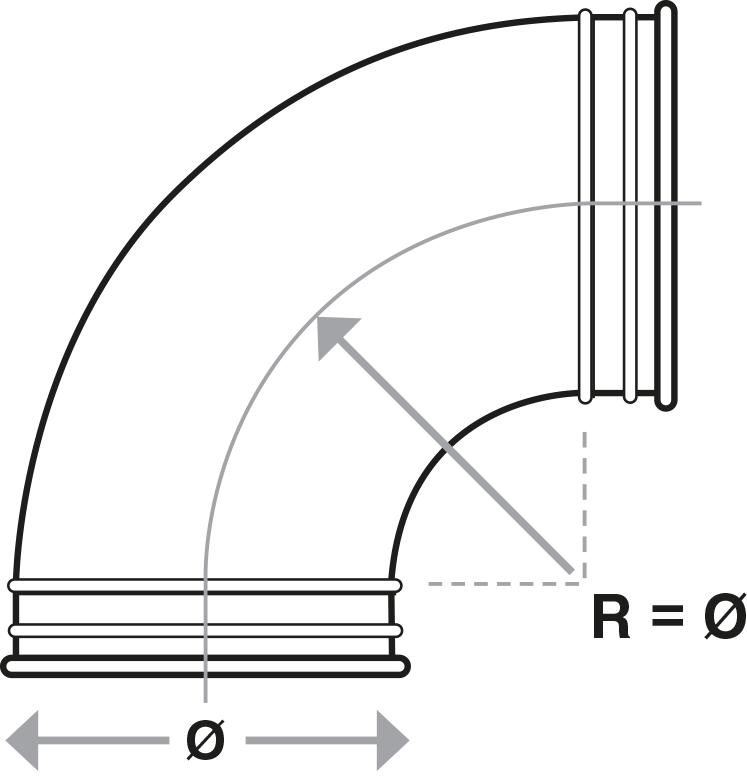 Pressed Bends technical drawing