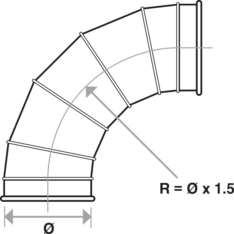 Segmented Bends technical drawing